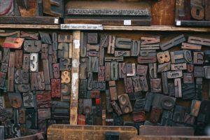 Buchdruck - Holzbuchstaben